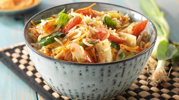 Surimi in vietnamesischer Soja-Sauce mit schwarzem Pfeffer