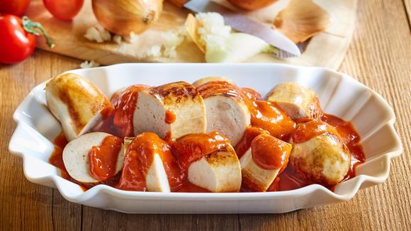 Bratwurst in Currysauce