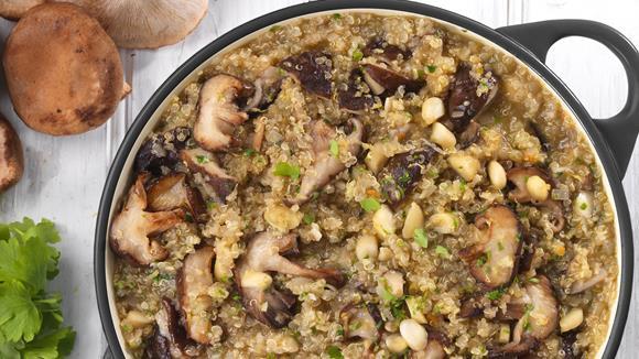 Veganes Pilzrisotto mit Quinoa Rezept