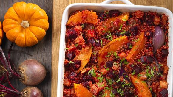 Veganer Auflauf mit Quinoa Rezept