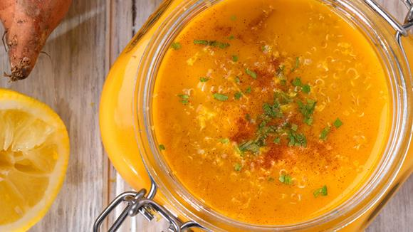 Süßkartoffel Quinoa Suppe Rezept