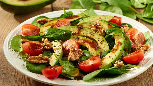 Avocado Spinat Salat