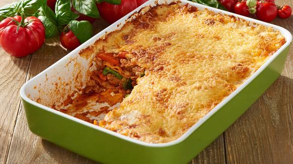 Schnelle Gemüse-Hack-Lasagne