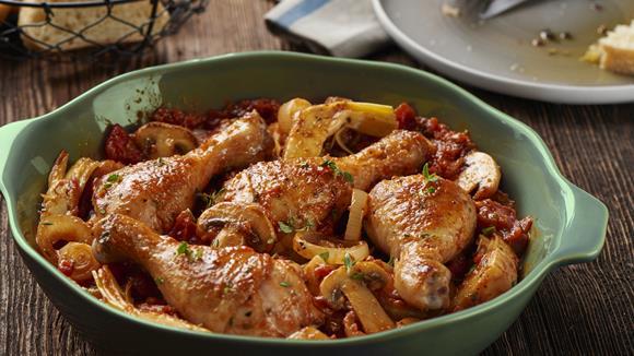Hähnchen Toskana mit Champignons Rezept