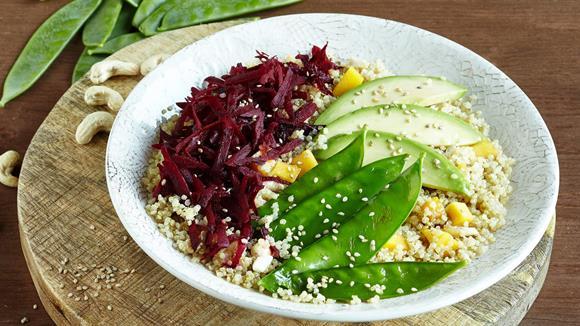 Vegane Quinoa-Buddha-Bowl Rezept
