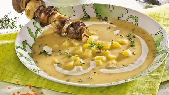 Feine Kartoffel-Waldpilzsuppe