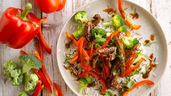 Pfannen-Geschnetzeltes mit Broccoli