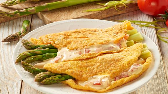 Spargelomelette
