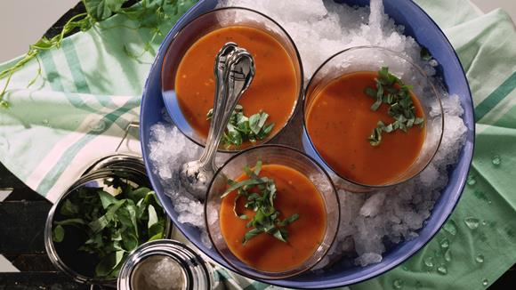 Geeiste Tomatensuppe