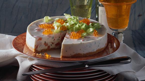 Joghurttorte mit Lachs