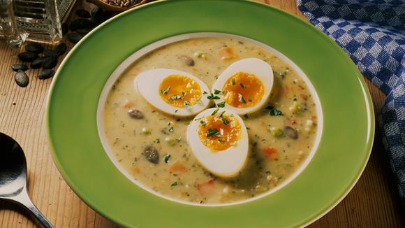 Grünkern-Cremesuppe