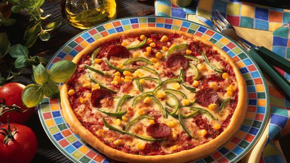 Bunte Pizza