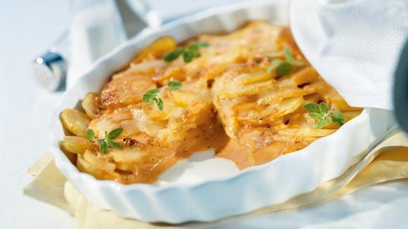 Paprika-Kartoffel-Gratin