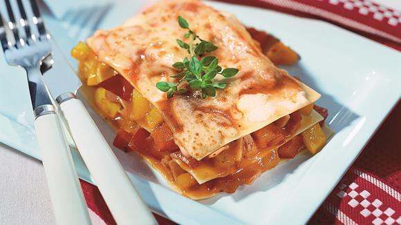 Paprika-Schinken-Lasagne al forno