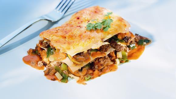 Pikante Pilz-Lasagne Rezept