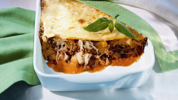 linsen zucchini lasagne rezept knorr. Black Bedroom Furniture Sets. Home Design Ideas
