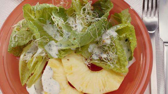 Römersalat mit Ananas