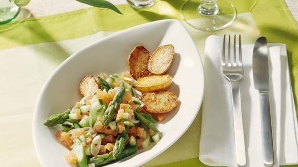 Spargel-Lachs-Salsa Rezept