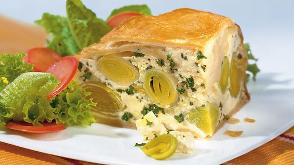 Käse-Lauch-Pastete