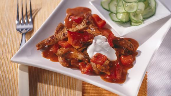 Paprika-Gyros-Pfanne Rezept