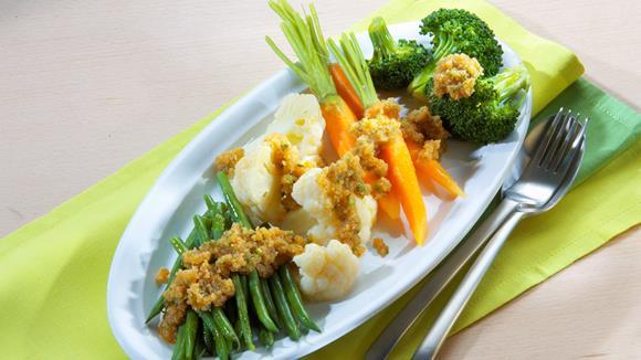 Gemüse mit Semmelbrösel