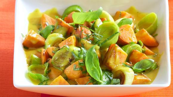 Vegetarisches Süßkartoffel-Curry Rezept