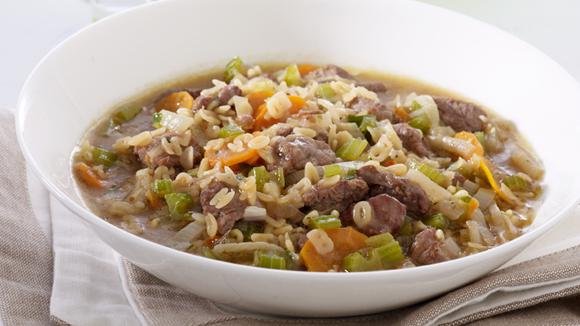 Παιδική σούπα από μοσχαράκι με κρέμα λαχανικών