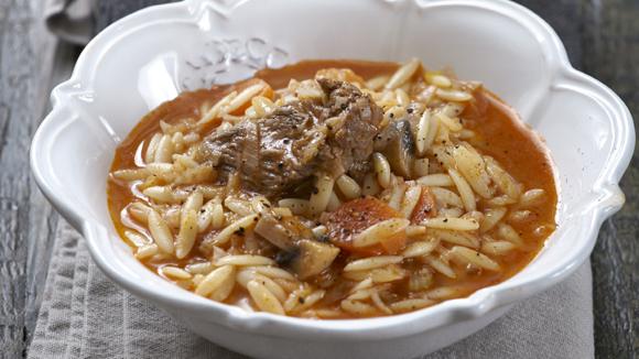 Κρεατόσουπα με χειμωνιάτικα λαχανικά