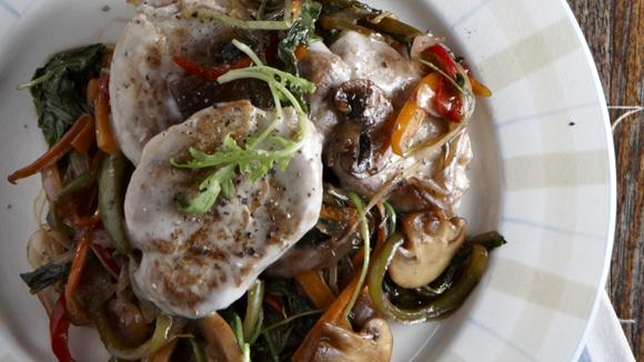 Ψαρονέφρι με καραμελωμένα λαχανικά