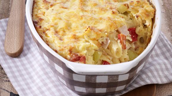 Σουφλέ ζυμαρικών και λαχανικά