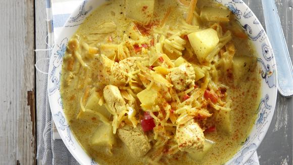 Φιλετάκια γαλοπούλας σούπα