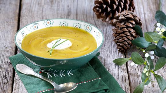 Γιορτινή βελουτέ σούπα γλυκοπατάτας