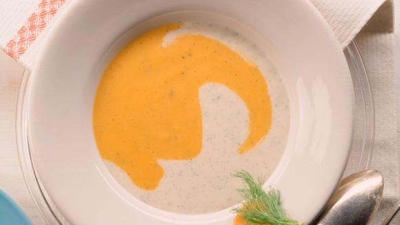 Σούπα καρότου με πορτοκάλι και φινόκιο