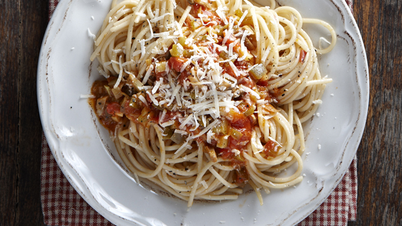 Σπαγγέτι με σάλτσα λαχανικών