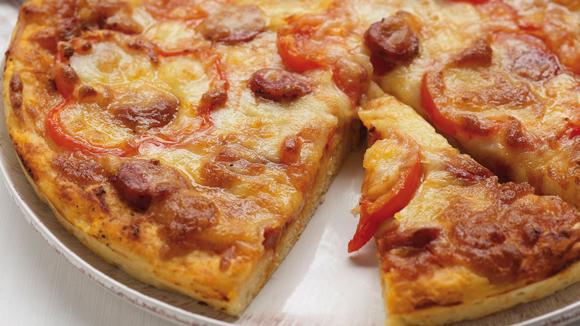 Τυρόψωμο πίτσα