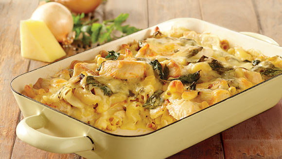 Chicken & Spinach Macaroni Bake