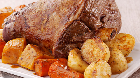 Classic Roast Lamb with V