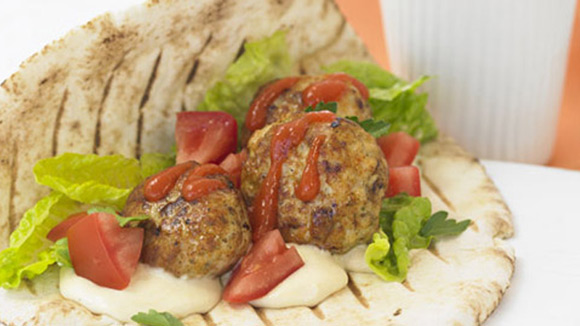Middle Eastern Chicken Rissole Kebabs