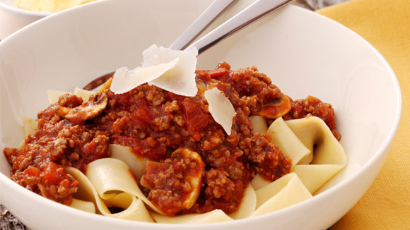 Home Recipes Fettuccini bolognese with mushroom