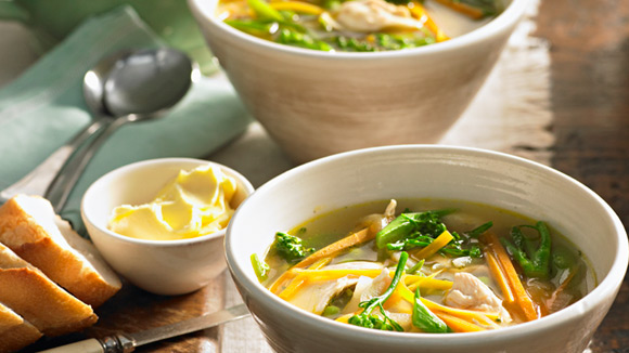 Chicken & Vegetable Soup Recipe.
