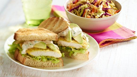 Home Recipes Satay Chicken Burger