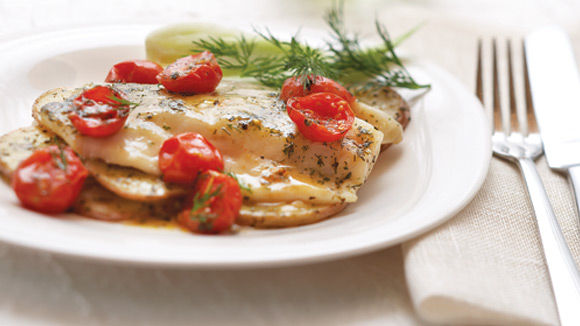 Fish with Lemon & Dill