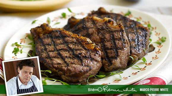 Griddled Steak with Mushrooms