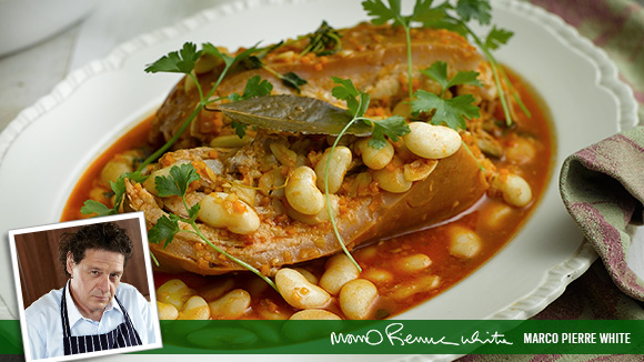 Pork Belly with Butter Beans