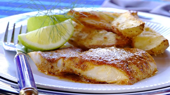 Fish and chips fish and chips recipe knorr uk for Baked fish and chips