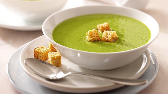Pea and Garden Herb Soup