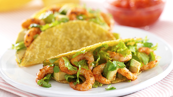 Prawn Tacos with Avocado