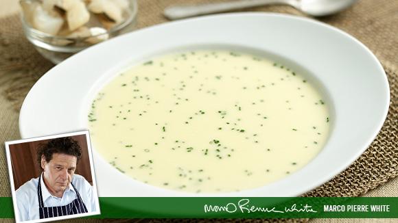 Leek Soup with Smoked Haddock