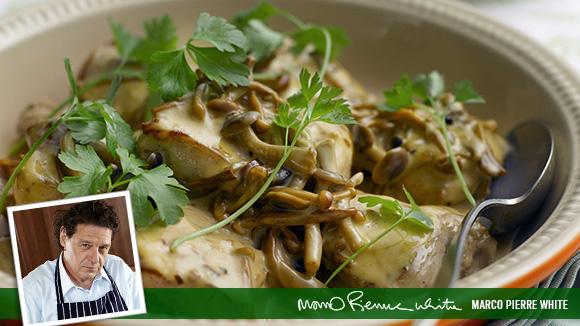 Pheasant with Mushroom Sauce