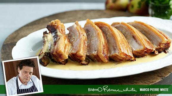 Home Recipes Belly Pork with Cider Cream